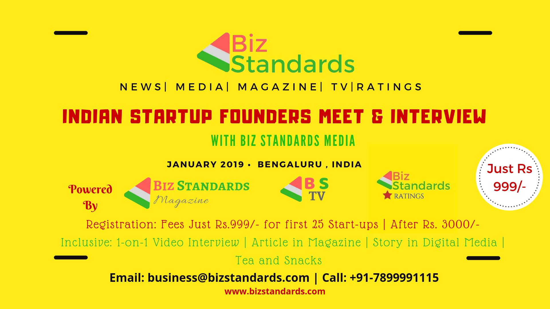 Indian Startup founders meet & interview with Biz Standards media