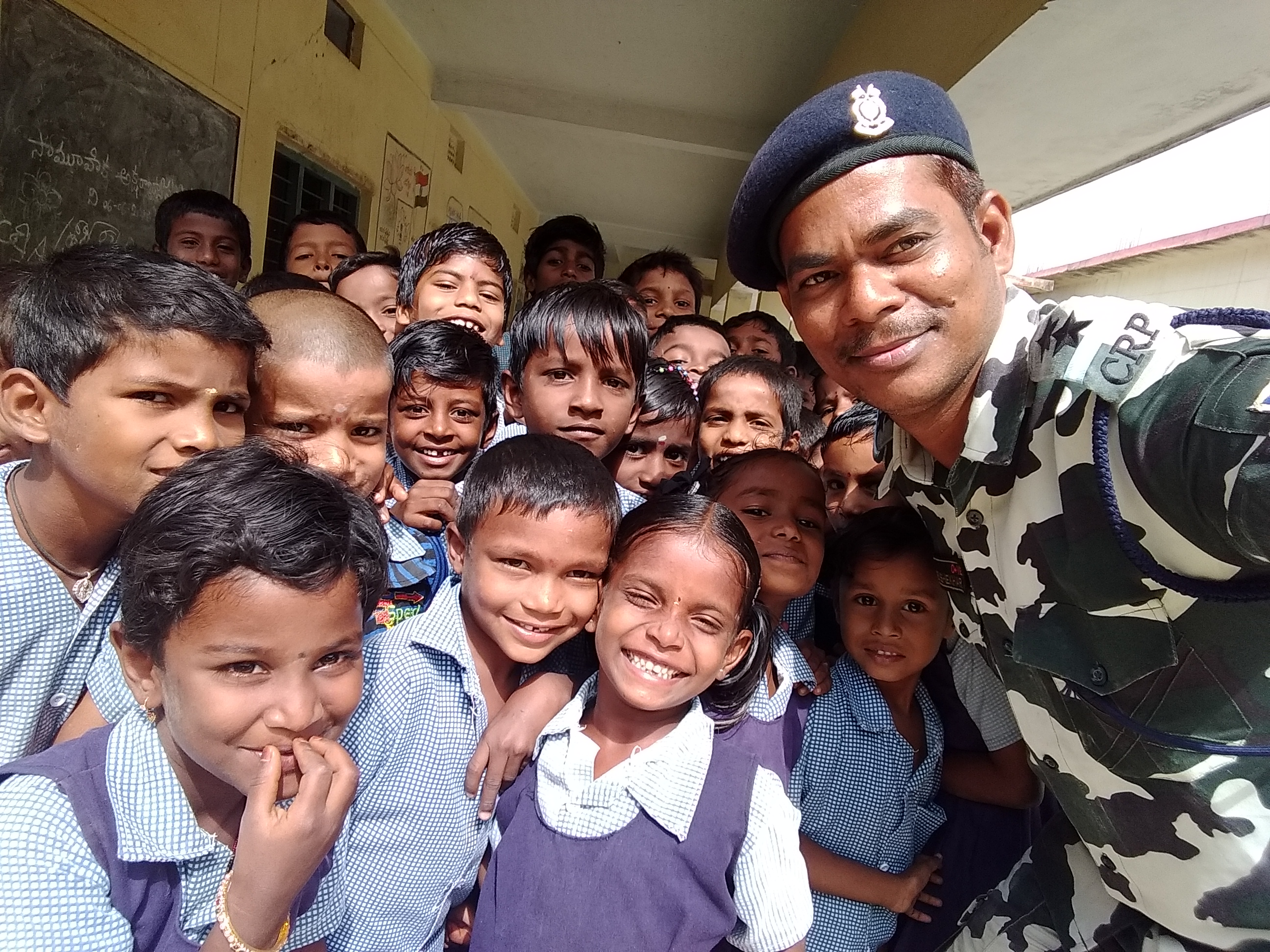 A Soldier fighting for malnutrition problems in school children